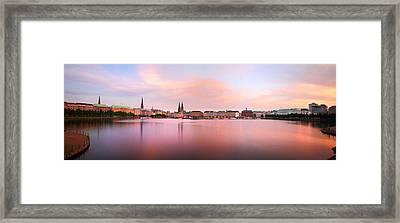 Hamburg Afterglow Framed Print by Marc Huebner