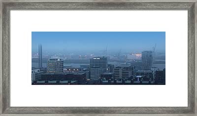 Hamburg Hafencity Panorama Framed Print by Marc Huebner