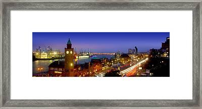 Hamburg Landing Stages Framed Print by Marc Huebner