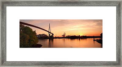 Hamburg Sunset Framed Print by Marc Huebner
