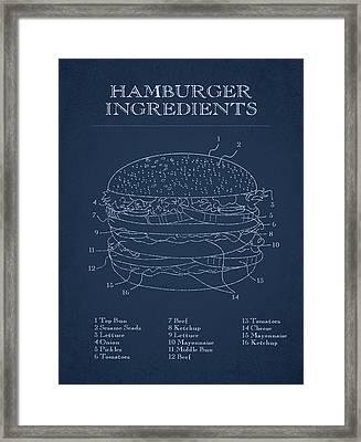Hamburger Framed Print by Aged Pixel