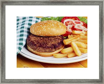 Hamburger & French Fries Framed Print by The Irish Image Collection