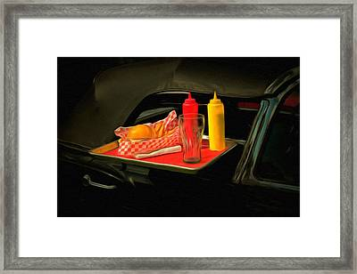 Hamburger Fries And A Coke  Framed Print by L Wright