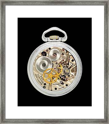 Vintage Aviator Pocket Watch Framed Print by Jim Hughes