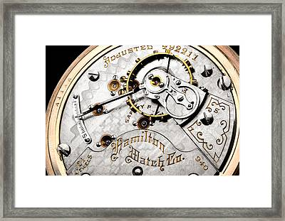 Antique Pocket Watch Framed Print by Jim Hughes