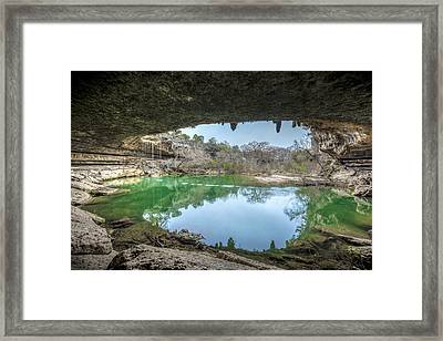 Hamilton Pool Framed Print by David Morefield