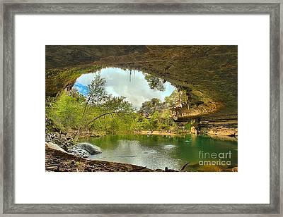 Hamilton Pool - Dripping Springs Texas Framed Print by Adam Jewell
