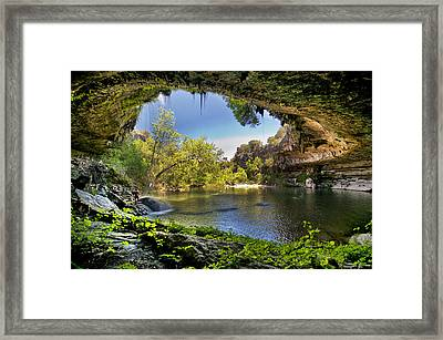 Hamilton Pool Framed Print by Lisa  Spencer