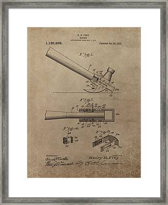 Hammer Patent Drawing Framed Print by Dan Sproul