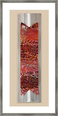 Hammered Framed Print by Rick Roth