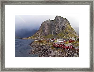 Hamnoy Rorbu Village Framed Print by Heiko Koehrer-Wagner