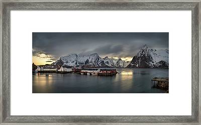 Hamnoy Village On Lofoten, Nordland Framed Print by Panoramic Images