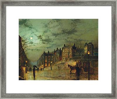 Hampstead Hill, Looking Down Heath Street, 1881 Framed Print by John Atkinson Grimshaw