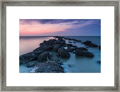 Hampton Seascape Framed Print by Ian Hufton