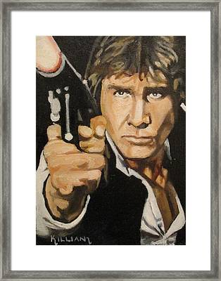 Han Solo I've Got A Bad Feeling About This  Framed Print by Patrick Killian
