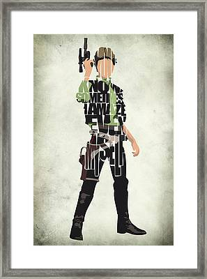 Han Solo Vol 2 - Star Wars Framed Print by Ayse Deniz