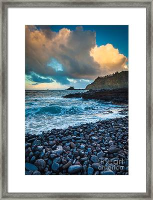 Hana Bay Pebble Beach Framed Print by Inge Johnsson