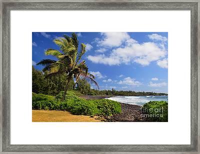 Hana Beach Framed Print by Inge Johnsson