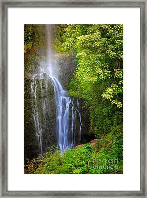 Hana Waterfall Framed Print by Inge Johnsson