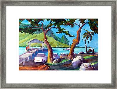 Hanalei Pier Framed Print by Jerri Grindle