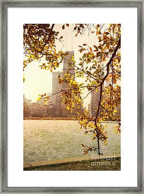 Hancock In Fall Framed Print by Margie Hurwich