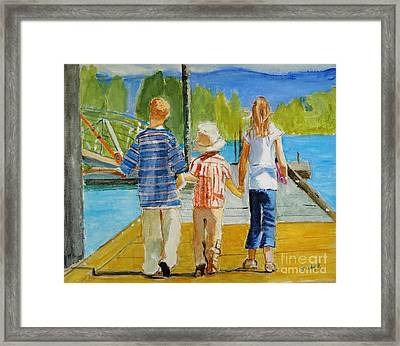 Hand In Hand Framed Print by Judy Kay