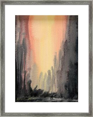 Hand In Hand Framed Print by Kristine Plum