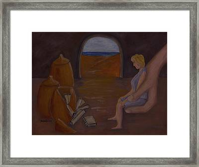 Hand In The Treasure Framed Print by Barbara St Jean