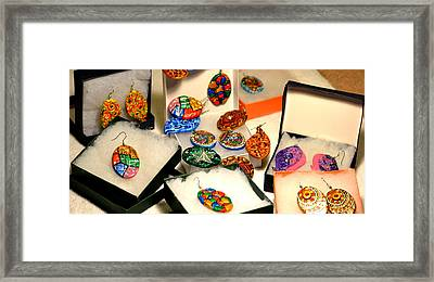 Hand-made Earrings Framed Print by Deepti Mittal