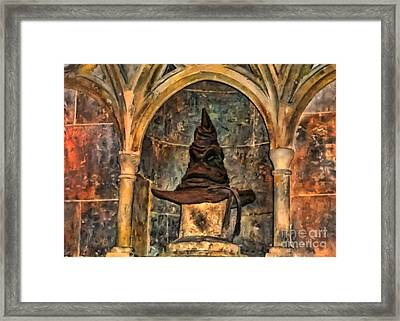 Hand Painted Hogwarts Sorting Hat Framed Print by Accelerated Vision Photography