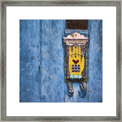 Hand-painted Mailbox Painterly Effect Framed Print by Carol Leigh