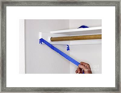 Hand Peeling Painter's Tape Framed Print by Lee Serenethos