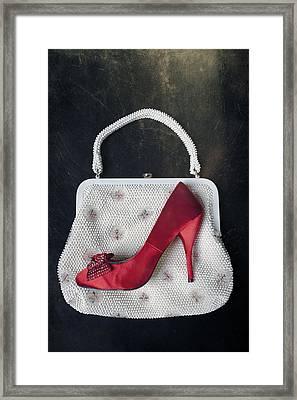 Handbag With Stiletto Framed Print by Joana Kruse