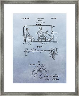 Handcuffs Law Enforcement Patent Framed Print by Dan Sproul