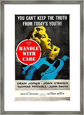 Handle With Care, Us Poster, Top Joan Framed Print by Everett