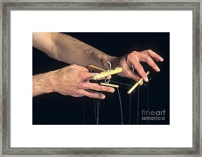 Hands Of A Puppeteer Framed Print by Bernard Jaubert