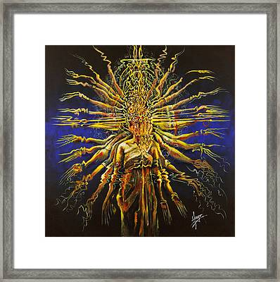 Hands Of Compassion Framed Print by Karina Llergo
