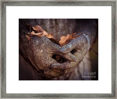 Hands Of Grief Framed Print by Sonja Quintero