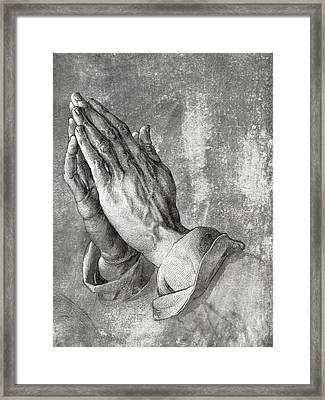 Hands Of Prayer  1508 Framed Print by Daniel Hagerman