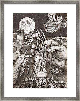 Hands Framed Print by Richie Montgomery