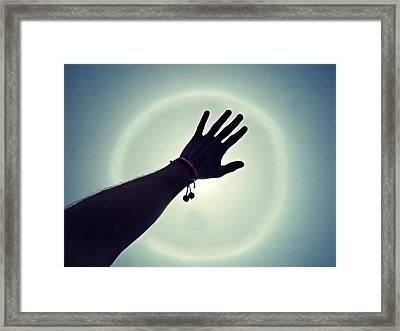 Hands Up Framed Print by Cyryn Fyrcyd