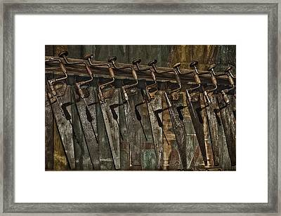 Handy Man Tools Framed Print by Susan Candelario