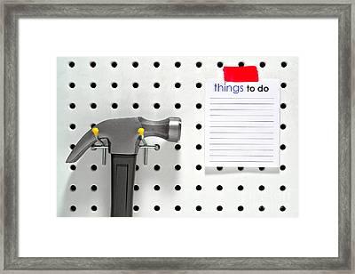 Handyman Board Framed Print by Olivier Le Queinec