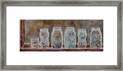 Handymans Preserves Framed Print by Jenny Armitage