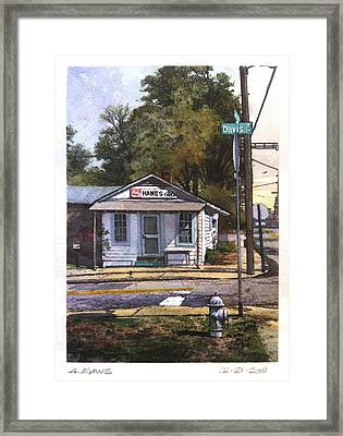 Hanes Gro. Framed Print by George Evans