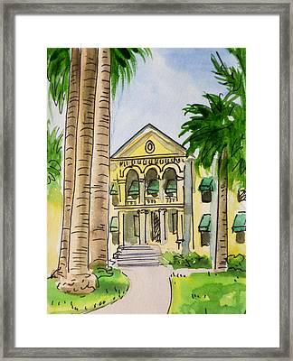 Hanford - California Sketchbook Project Framed Print by Irina Sztukowski