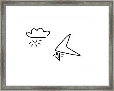 Hang-glider Aviation Framed Print by Lineamentum