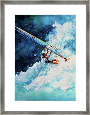 Hang Ten Framed Print by Hanne Lore Koehler