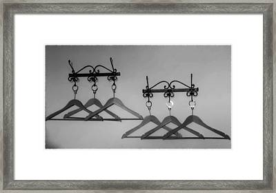 Hangers Framed Print by Dany Lison