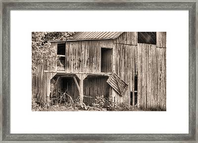 Hanging By A Moment Bw Framed Print by JC Findley
